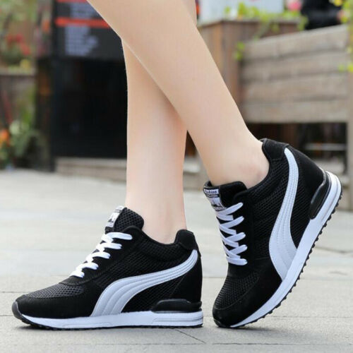 Women Breathable mehs shoes Fashion Sneakers hidden Wedge Sport Running Trainers