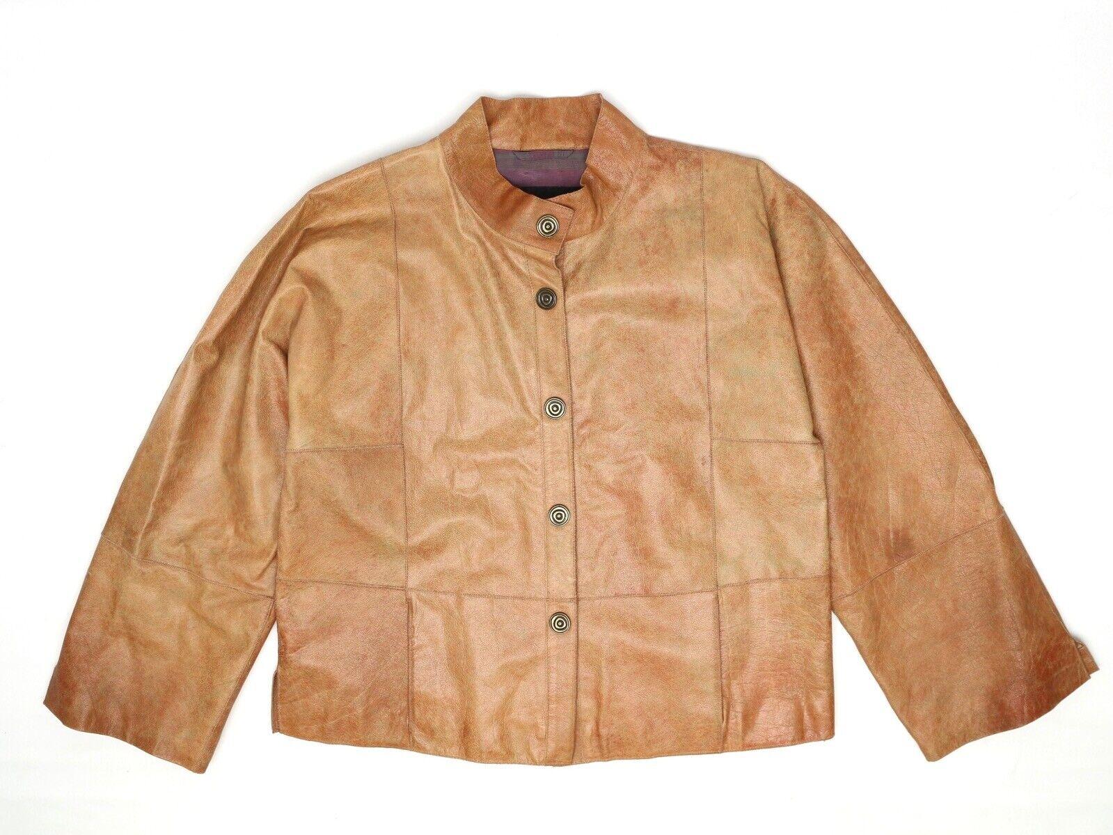 Giorgio Armani Veste Femme  42 marrón Cuir Buffalo Snap avant Manteau Patchwork  elige tu favorito