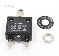 Thermal Overload Circuit Breaker L1 Joemex Pe74 Kuoyuh 30a 125vac 250vac 50vdc