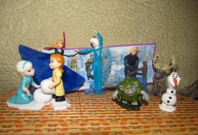 Hong Kong BPZ Surprise Egg Toy 8 FIGUREs set Disney FROZEN ~ KINDER Joy
