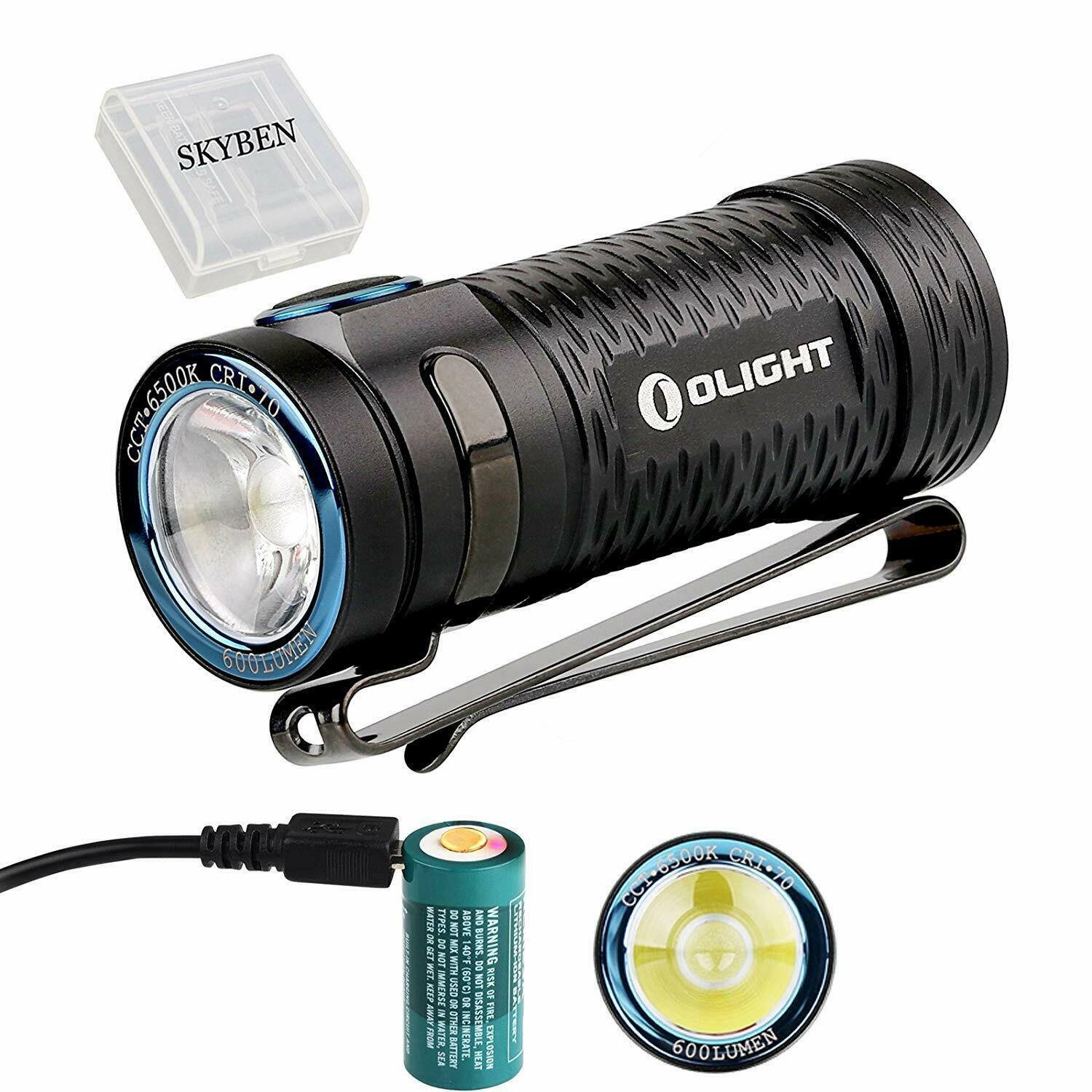 Olight S1 MINI Cree XM-L2  LED 600 Lumens Ultra Compact LED Flashlight Smallest  quality first consumers first