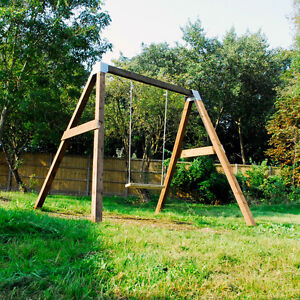 Diy Garden Swing Set Brackets Wooden Frame Outdoor Kids Childens