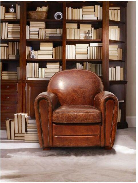 Wondrous Small Vintage Armchair Paris Club Chair Genuine Leather Retro Studded Nailhead Spiritservingveterans Wood Chair Design Ideas Spiritservingveteransorg