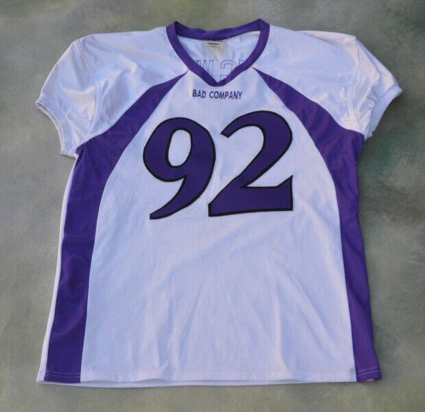 Teamwork Apparel Bad Company BIG WIL Football Jersey Size 2XL.