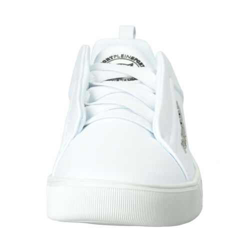 "Plein Sport /""John/"" White Slip On Fashion Sneakers Shoes 8 8.5 9.5 10"
