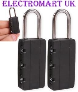 3 X 40MM 4 DIGIT COMBINATION PADLOCK PADLOCKS LOCK SUITCASE TRAVEL LUGGAGE BAG