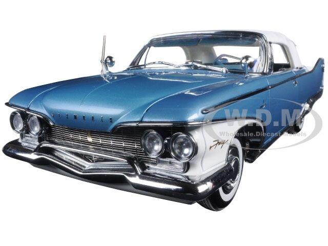1960 PLYMOUTH FURY CLOSED CONV blu bianca 1 18 PLATINUM EDITION SUNSTAR 5412