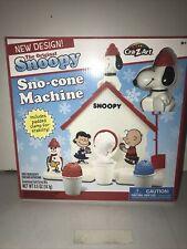 Peanuts Snoopy Sno Cone Machine Kids Snow Maker Toy Ice Shavings