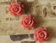 10x Resin Cabochons Blumen zum Kleben 13mm altrosa tm227