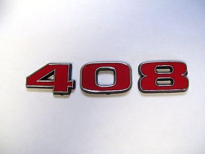 "Ford Mustang Red /& Chrome 427 427ci Stroker Fender Emblem Badge 4/"" x 1.5/"""