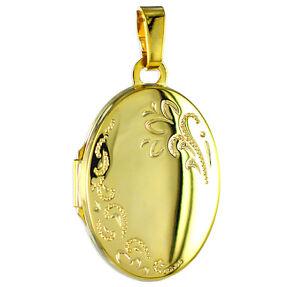 ECHT GOLD *** Medaillon oval 25 mm