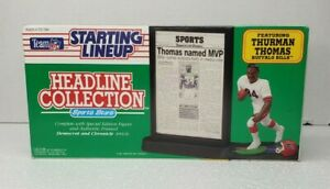 1991 Thurman Thomas Starting Lineup Headline Collection Buffalo Bills MVP Figure
