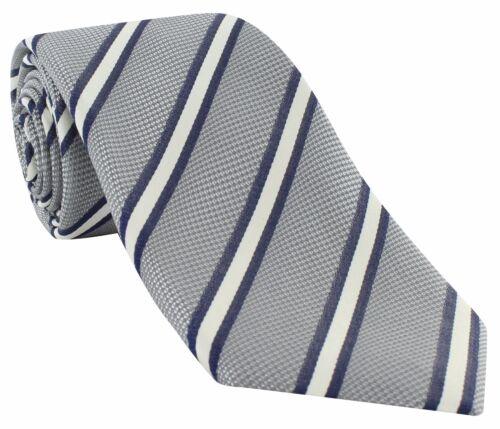 Michelsons of London Classic Block Stripe Silk Tie