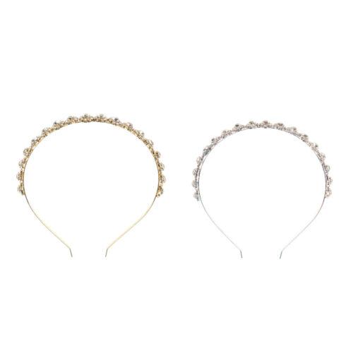 Strass HAarreif Haarband Stirnband Prinzessin Krone Braut Tiara Diadem für