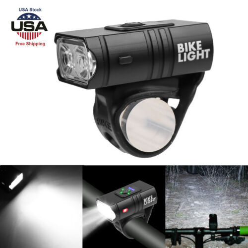 10W LED Bicycle Front Light 6 Modes USB Rechargeable MTB Bike Front Lamp TP