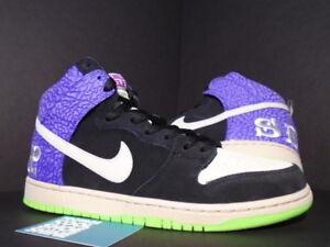 74ebb316279b Details about Nike Dunk High Premium SH SB BLACK PURPLE RASPBERRY SEND HELP  616752-016 NEW 11