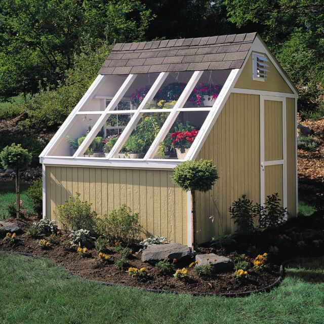 New Hq  Dual Greenhouse Storage Solar Shed Garden House Wooden Floor