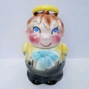 HALO-BOY-aka-HOLY-DEVIL-Cookie-Jar-Vintage-1956-DeForest-of-California-Pottery