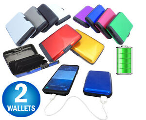 d48c194701d05 2 Aluminum RFID Blocking Power Bank Charging Phone Wallet E Charge ...