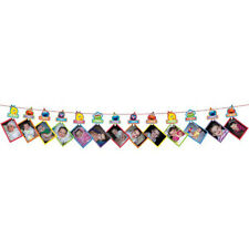 SESAME STREET Elmo Turns One PHOTO HOLDER GARLAND ~ Birthday Party Supplies