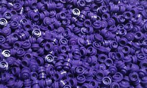 100 x Lego 1x1 Round Purple Stud Plate part 4073 New