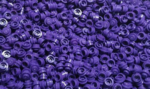 100 x Lego 1x1 Round Purple Stud Plate 4073
