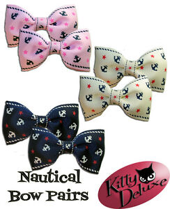 Nautical-Bow-Pairs-by-Kitty-Deluxe-EMO-Punk-Goth-Burlesque-Rockabilly-Sailor