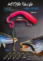 8 Leurres Souples Active Slug 3 Crazy Fish 70mm Pêche Streetfishing Sandre