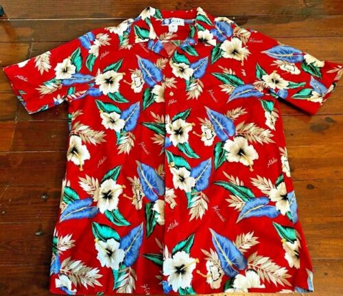 Vintage Bright Aloha Shirt M sz