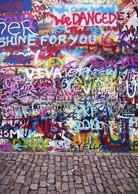 Graffiti Wall 5'x7' CP Backdrop Computer printed Scenic Background XLX-311