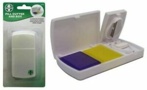Medicine Pill Holder Tablet Cutter Splitter Divider Convenient Travel Box