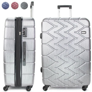 1ddea51992dc Details about Miami CarryOn Rugged Hard Case Luggage, Spinner Wheels, 100%  PC Body, TSA Lock