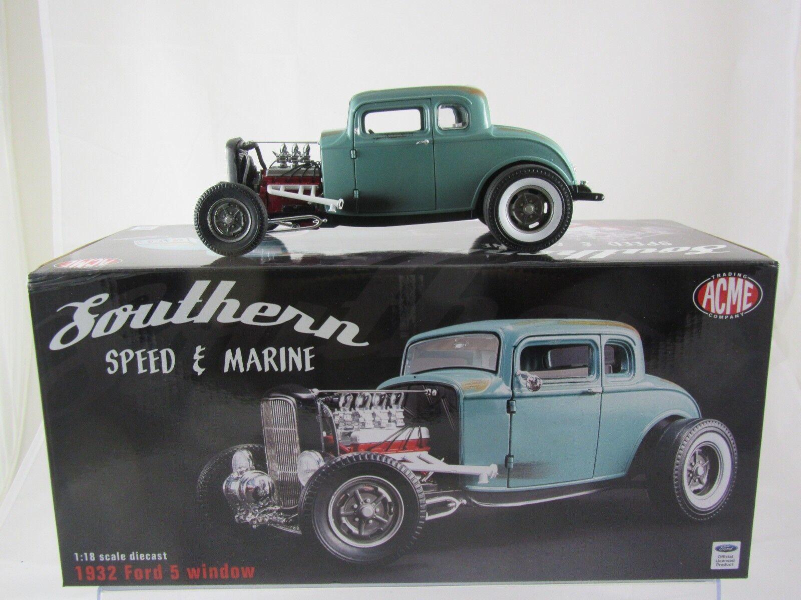 Acme 1932 Ford 5 Window-sur de velocidad y Marine Rat Rod A1805012