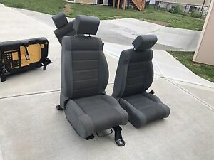 Brilliant Details About 2007 2015 Jeep Wrangler Unlimited Sahara Gray Cloth Front Rear Seats 4 Door Machost Co Dining Chair Design Ideas Machostcouk