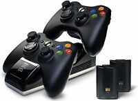 Xbox 360 Controller Charge Base Dock Station Charger Rechargeable Batteries Nyko