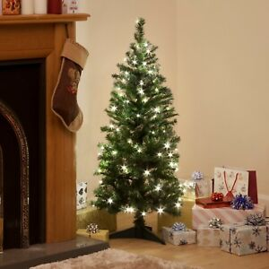 4ft Christmas Tree.Details About Deluxe Frosted Lovely Full Christmas Tree Pre Lit Led 4ft 5ft 6ft Xmas