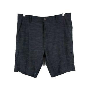 Vissla-Mens-Shorts-Size-33-Grey-Zip-Closure-Hybrid-With-Pockets