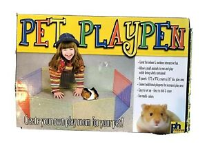 PREVUE-Pet-Playpen-36-034-8-Panel-Metal-Multicolor-Portable-Guinea-Pig-Hamster-NIB