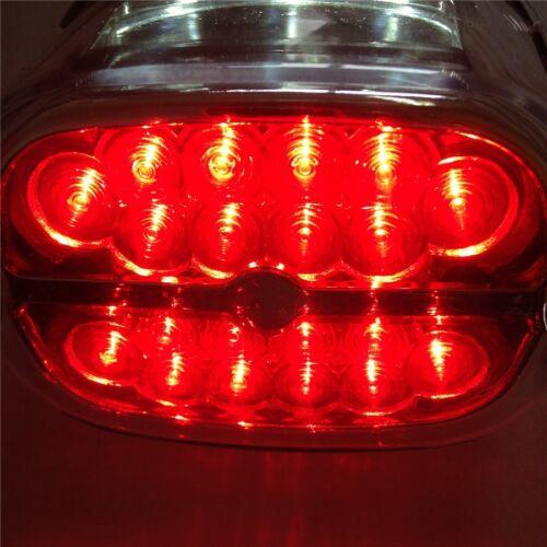 Tail Brake Light For Harley FLT FLST FXST Dyna Sportster 1999-Later Clear Lens