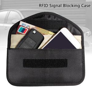 Phone-Card-Car-Key-Keyless-Entry-Fob-Signal-Guard-Blocker-Faraday-Large-Size-Bag
