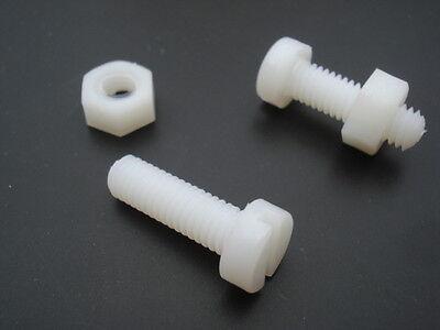 son écrou Vis Nylon tete cylindrique plate fendue M5x50mm lot de 10 pièces