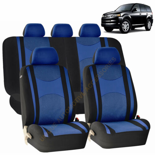 BLUE Front /& Back SPLIT Bench SEAT COVERS 9pc SET for ISUZU TROOPER RODEO