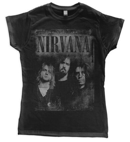 """Nirvana /""""faded visages de femme ajusté t-shirt-nouveau /& officiel!"""