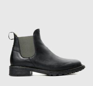 Détails sur H by hudson Bottines Caslon à Enfiler Cuir Chaussures Hommes Chelsea 12 46 Neuf