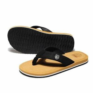 bd8ed3ad22a Men s Flat Beach Flip Flops Slippers Shoes Casual Indoor Outdoor ...