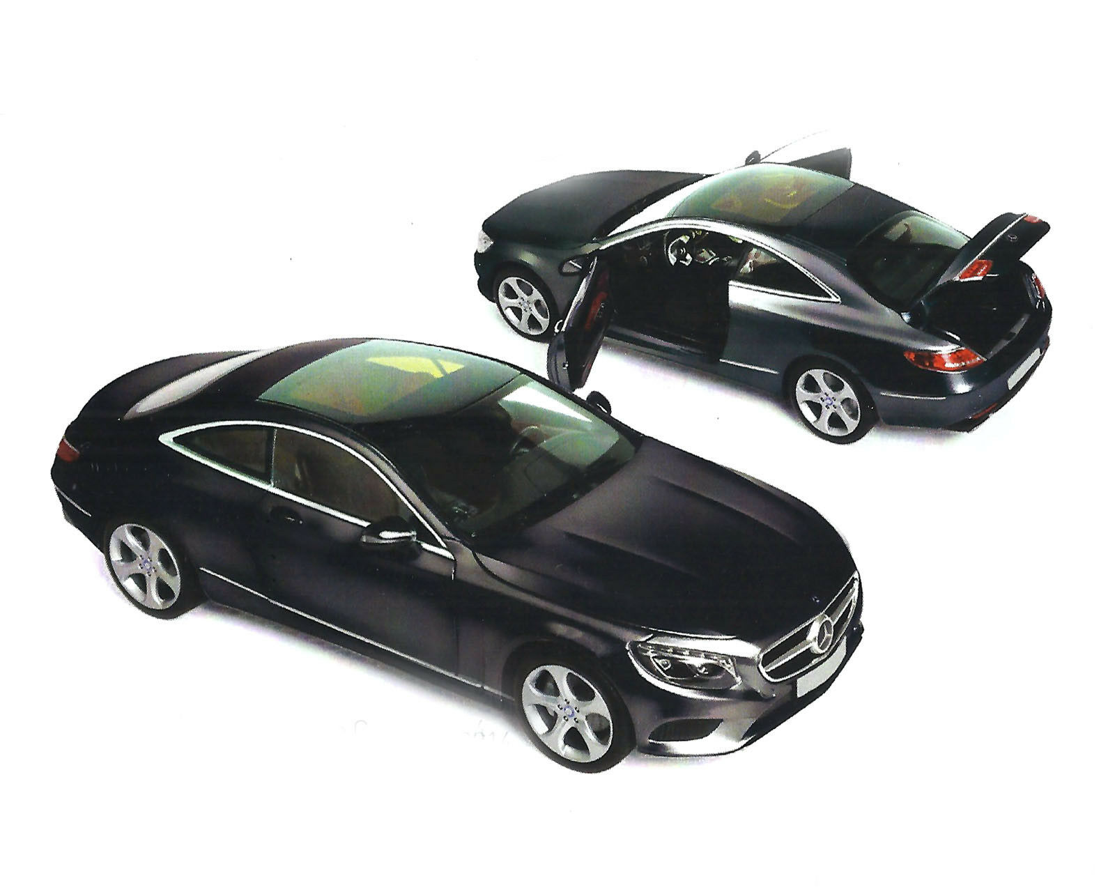 Mercedes-benz, s-clase Coupe 2014, negro 1 18, norev