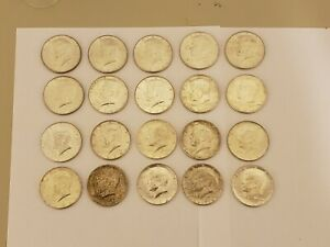 10 x 1964 Kennedy Half Dollar *AU ABOUT UNCIRCULATED*  90/% SILVER see desc.