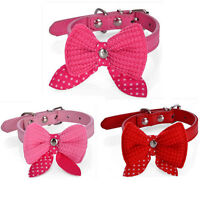 Bow Tie Necktie Dog Puppy Cat Bowknot Pet Collar Polka Dot Choker Necklace UK15