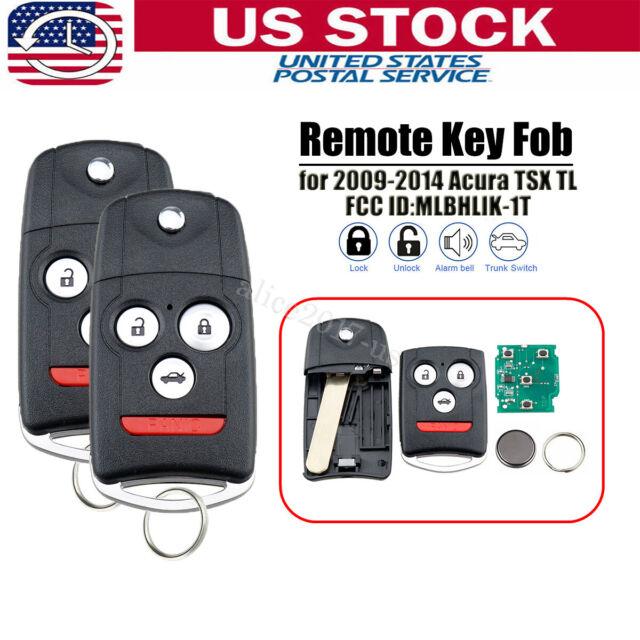 2x For 2009 2010 2011 2012 2013 2014 Acura TSX TL Remote