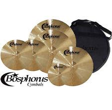 "BOSPHORUS Traditional Serie Becken Set 20""/18""/16""/14"" + 10"" + Cymbal Bag"